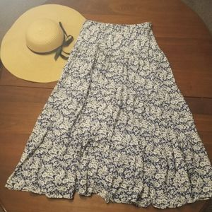 Chaps Floral Maxi Skirt